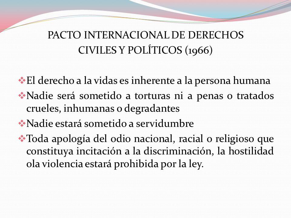 PACTO INTERNACIONAL DE DERECHOS