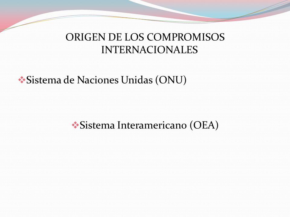 ORIGEN DE LOS COMPROMISOS INTERNACIONALES