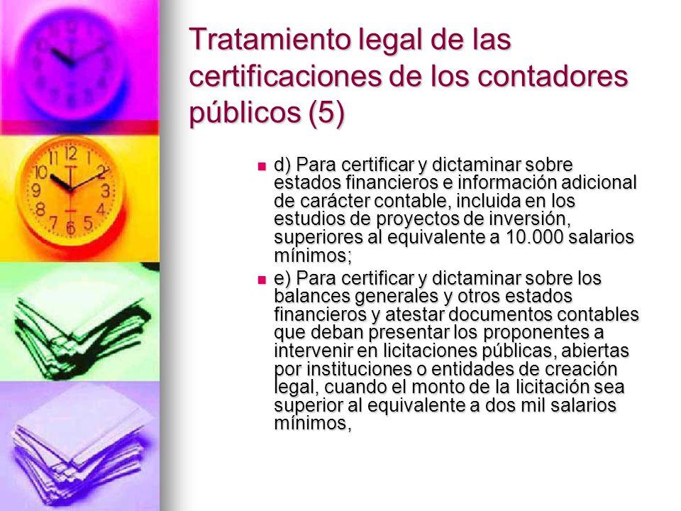 Tratamiento legal de las certificaciones de los contadores públicos (5)