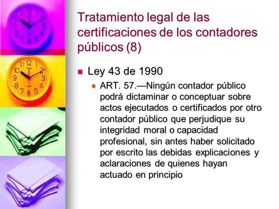 Tratamiento legal de las certificaciones de los contadores públicos (8)