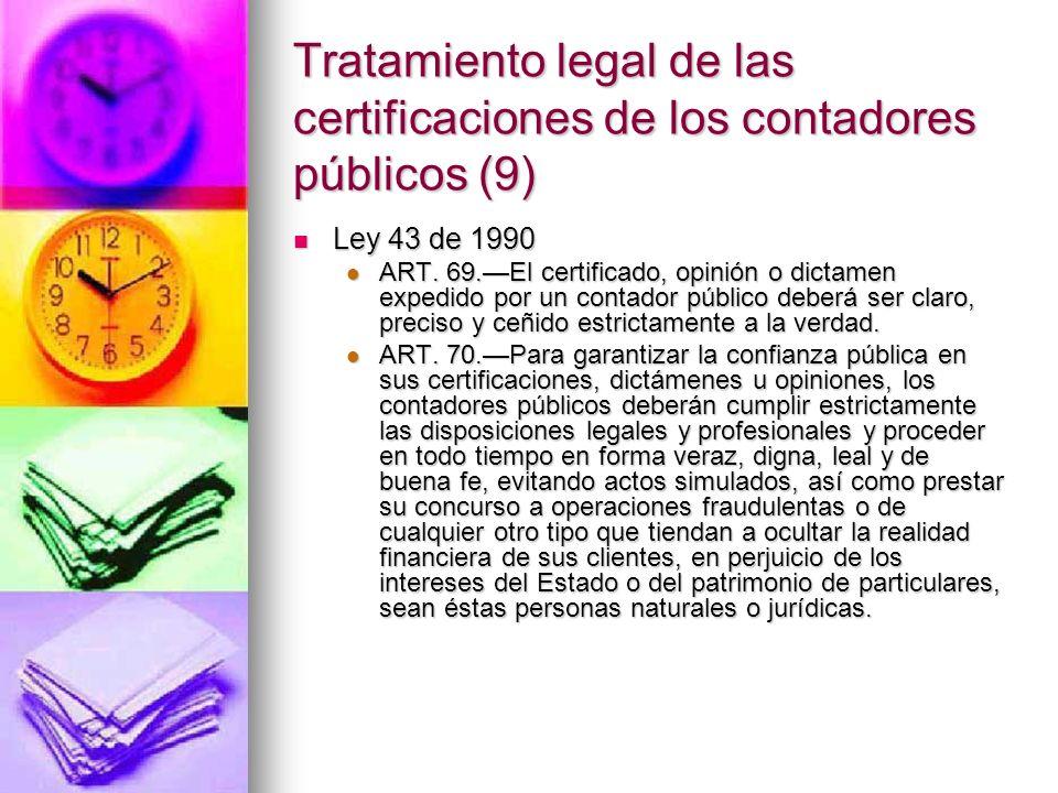 Tratamiento legal de las certificaciones de los contadores públicos (9)