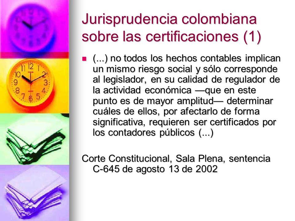 Jurisprudencia colombiana sobre las certificaciones (1)