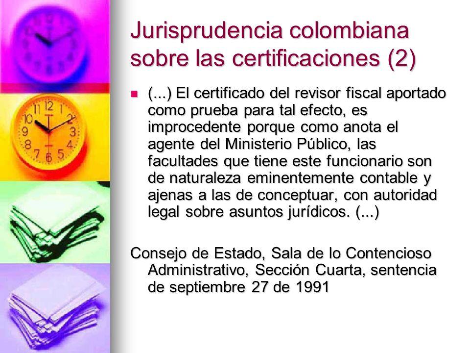 Jurisprudencia colombiana sobre las certificaciones (2)