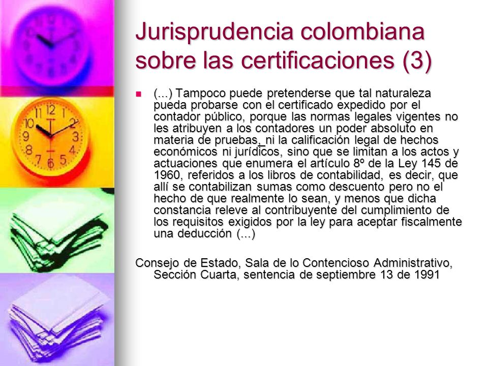 Jurisprudencia colombiana sobre las certificaciones (3)