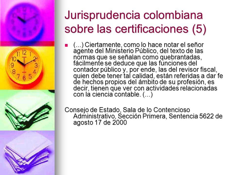 Jurisprudencia colombiana sobre las certificaciones (5)