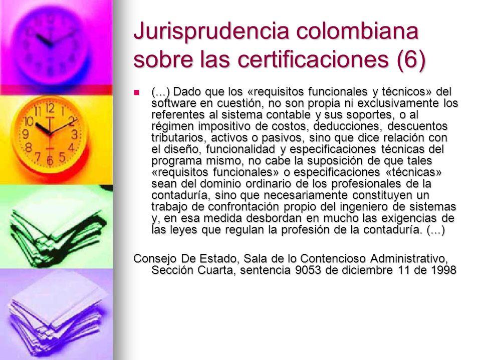 Jurisprudencia colombiana sobre las certificaciones (6)