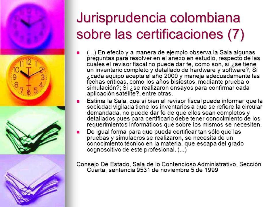 Jurisprudencia colombiana sobre las certificaciones (7)