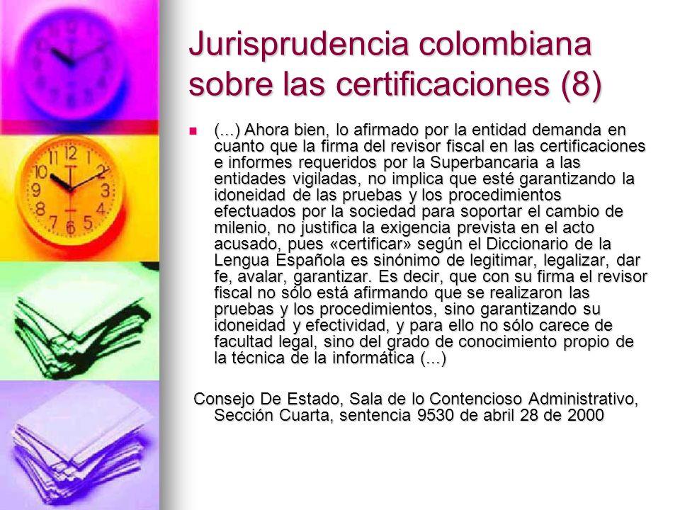 Jurisprudencia colombiana sobre las certificaciones (8)