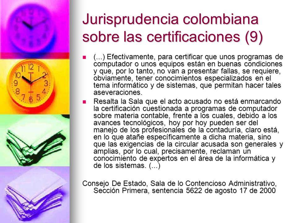 Jurisprudencia colombiana sobre las certificaciones (9)