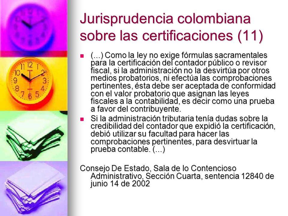 Jurisprudencia colombiana sobre las certificaciones (11)