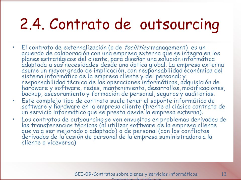 2.4. Contrato de outsourcing