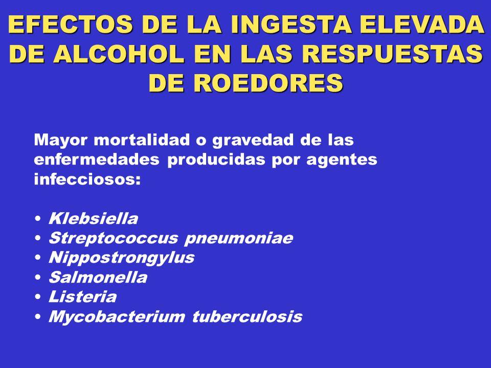 EFECTOS DE LA INGESTA ELEVADA DE ALCOHOL EN LAS RESPUESTAS DE ROEDORES