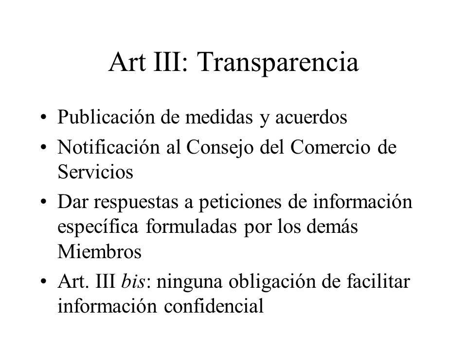 Art III: Transparencia