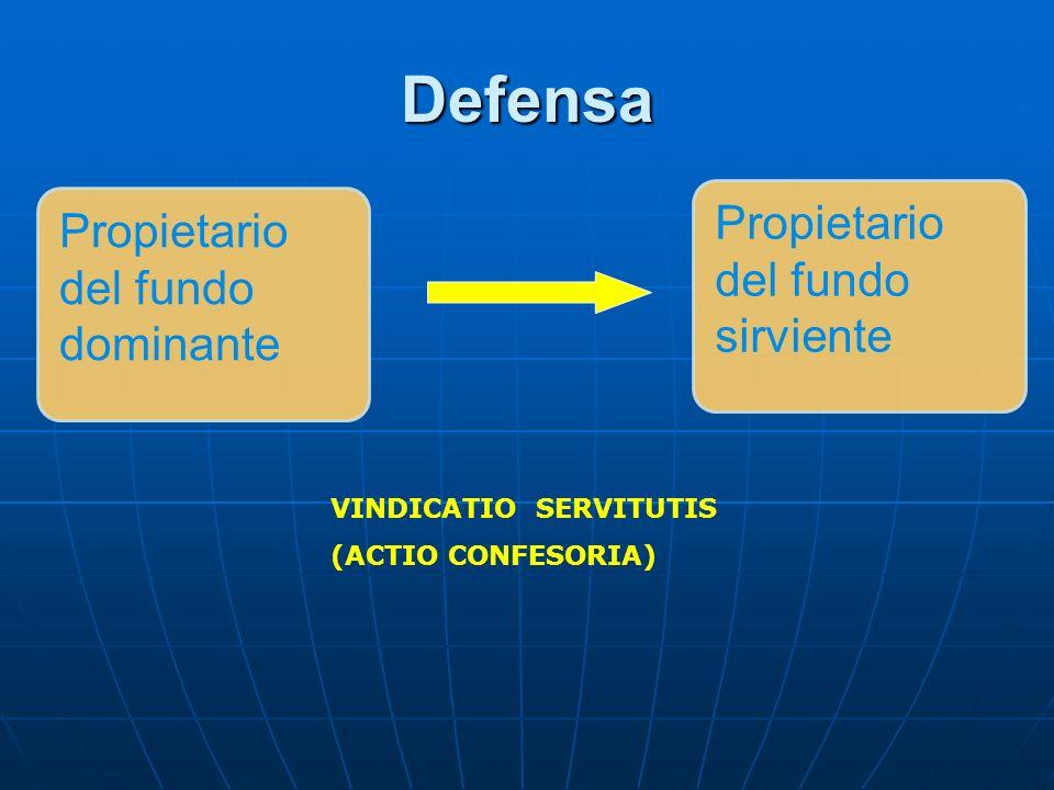 Defensa Propietario del fundo sirviente