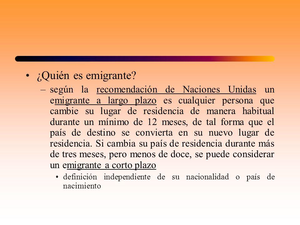 ¿Quién es emigrante