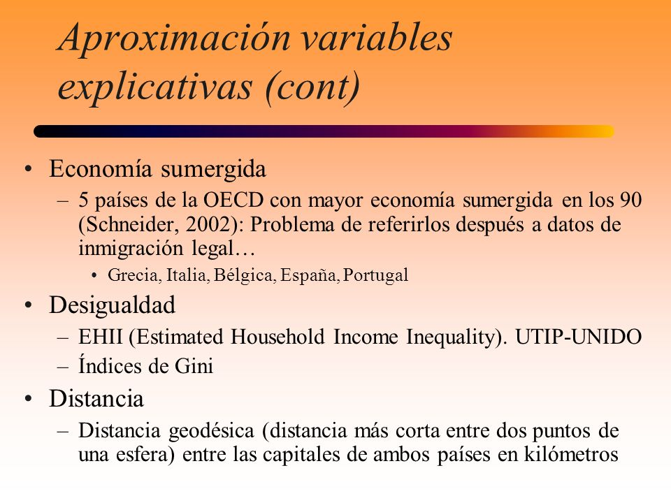 Aproximación variables explicativas (cont)