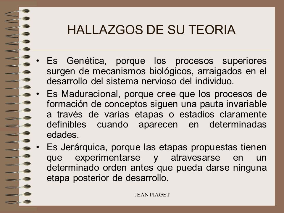 HALLAZGOS DE SU TEORIA