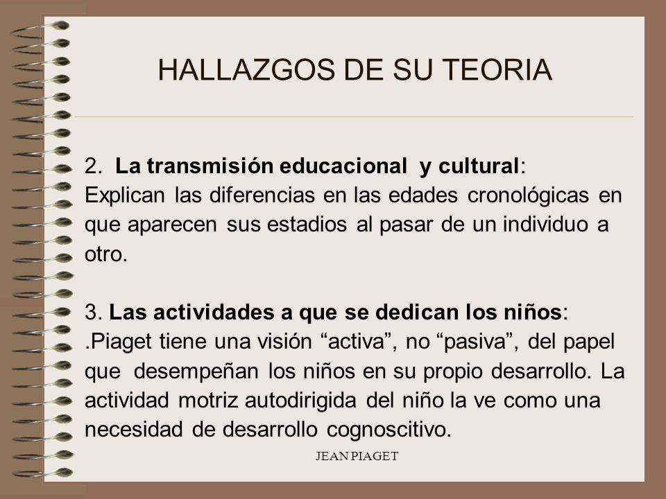 HALLAZGOS DE SU TEORIA 2. La transmisión educacional y cultural: