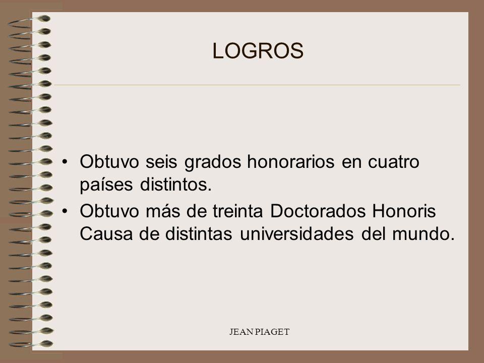 LOGROS Obtuvo seis grados honorarios en cuatro países distintos.