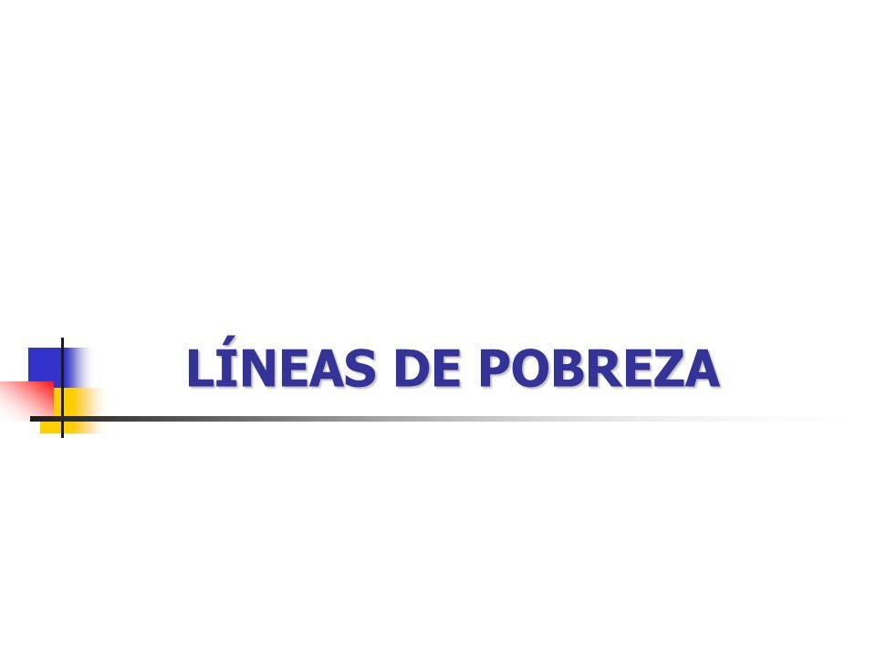 LÍNEAS DE POBREZA