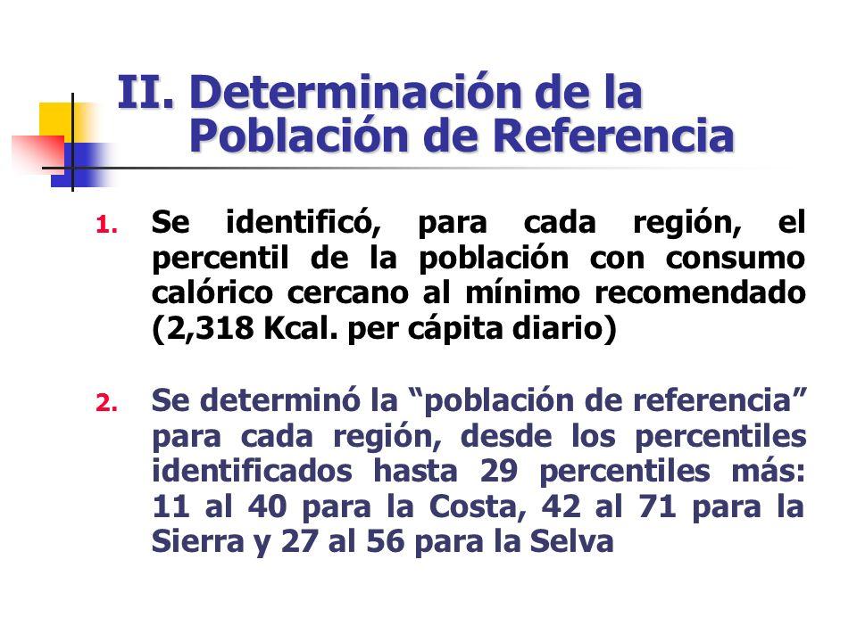II. Determinación de la Población de Referencia