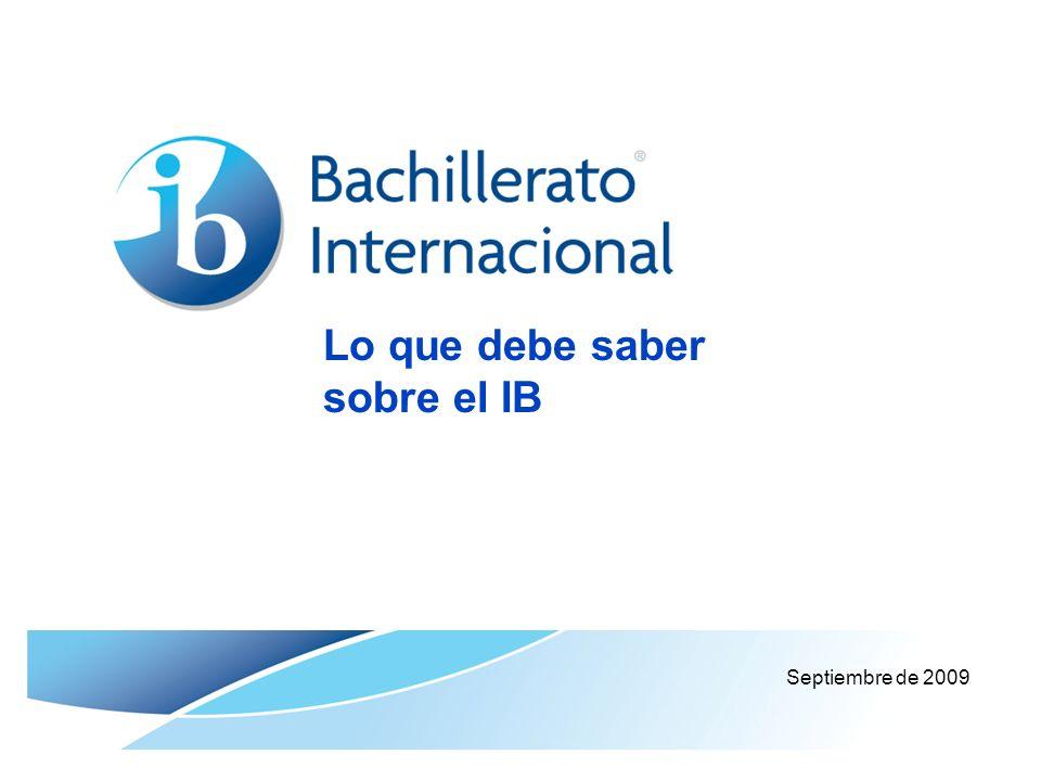 Lo que debe saber sobre el IB