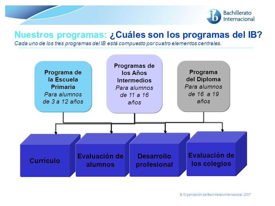 Nuestros programas: ¿Cuáles son los programas del IB
