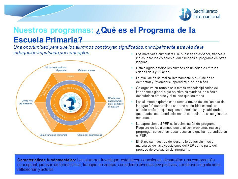 Nuestros programas: ¿Qué es el Programa de la Escuela Primaria