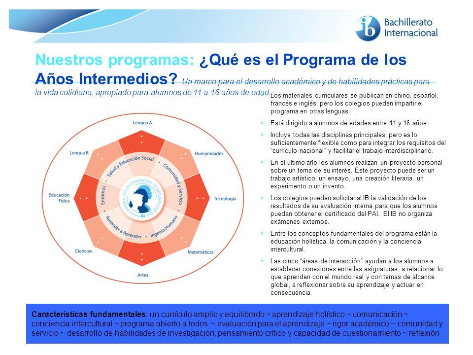 Nuestros programas: ¿Qué es el Programa de los Años Intermedios