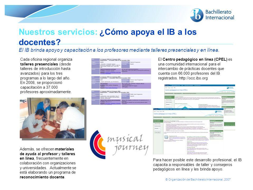 Nuestros servicios: ¿Cómo apoya el IB a los docentes