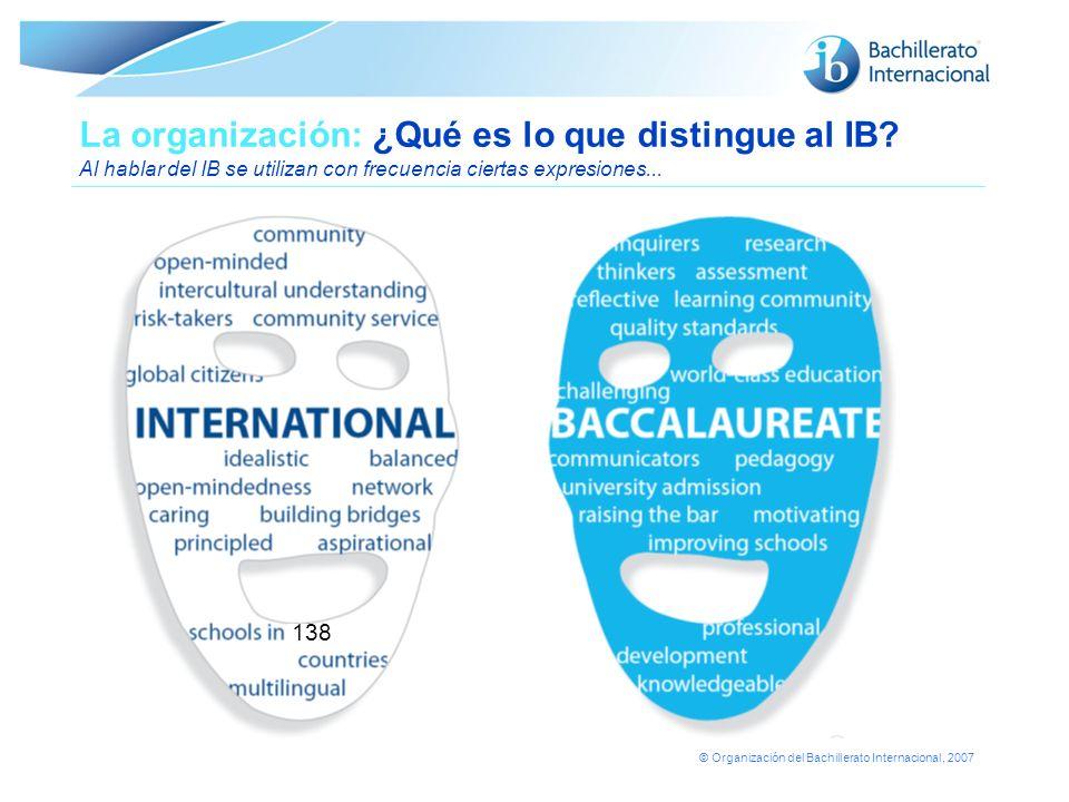 La organización: ¿Qué es lo que distingue al IB