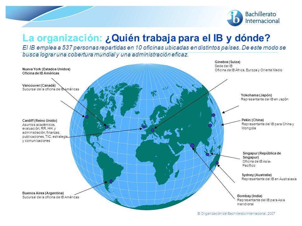 La organización: ¿Quién trabaja para el IB y dónde