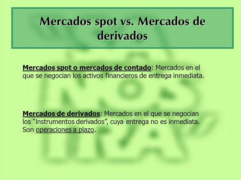Mercados spot vs. Mercados de derivados