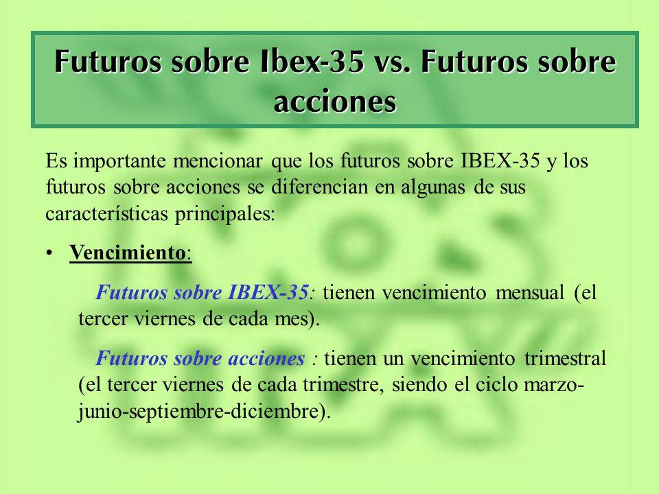 Futuros sobre Ibex-35 vs. Futuros sobre acciones