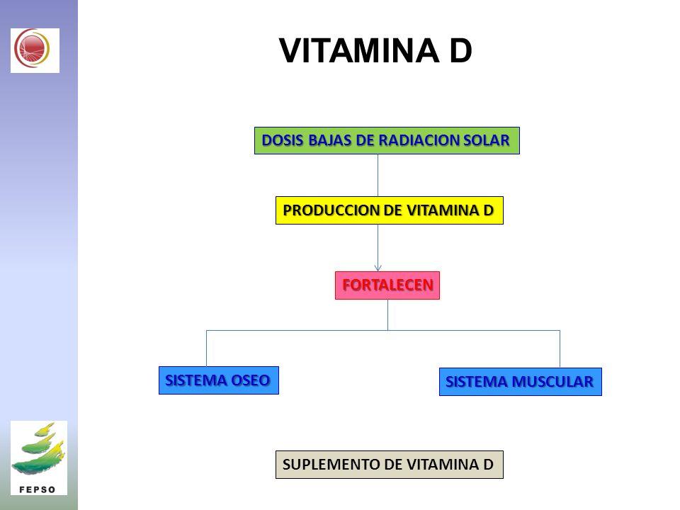 VITAMINA D DOSIS BAJAS DE RADIACION SOLAR PRODUCCION DE VITAMINA D