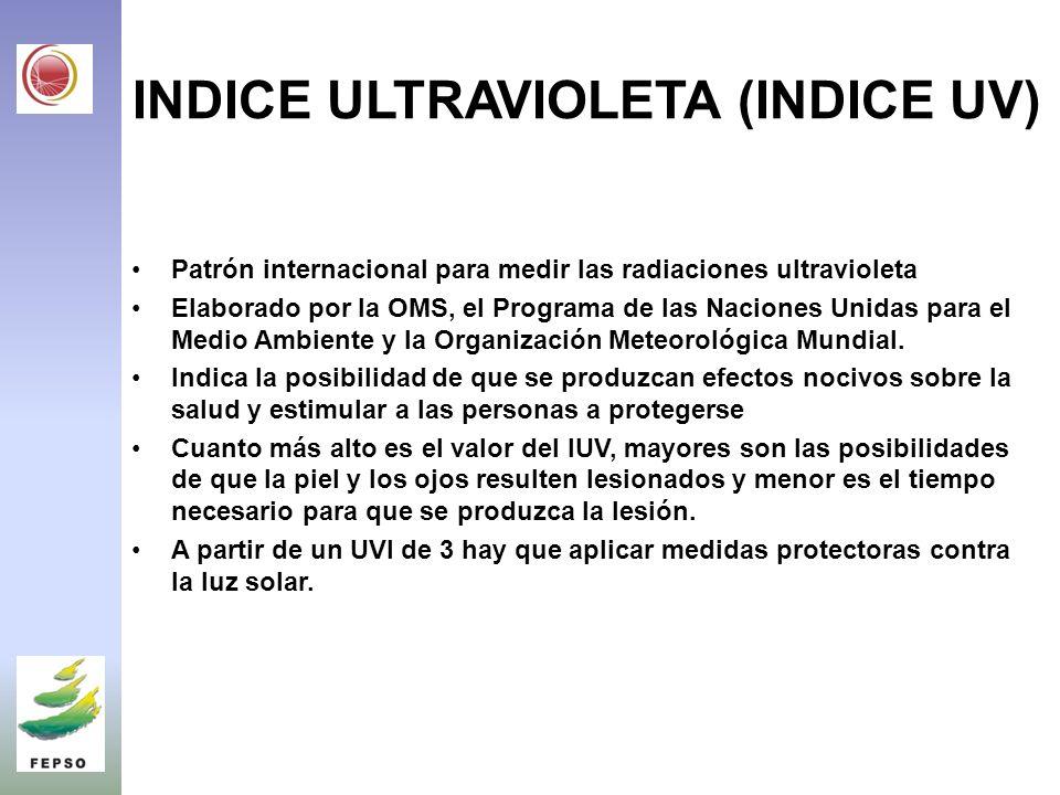 INDICE ULTRAVIOLETA (INDICE UV)