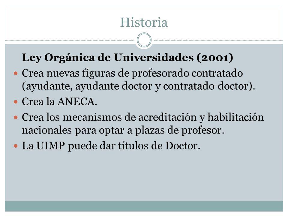 Historia Ley Orgánica de Universidades (2001)