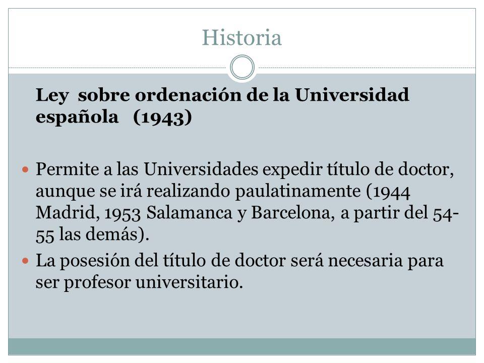 Historia Ley sobre ordenación de la Universidad española (1943)