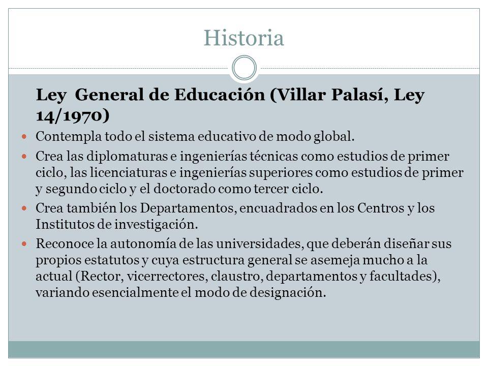 Historia Ley General de Educación (Villar Palasí, Ley 14/1970)