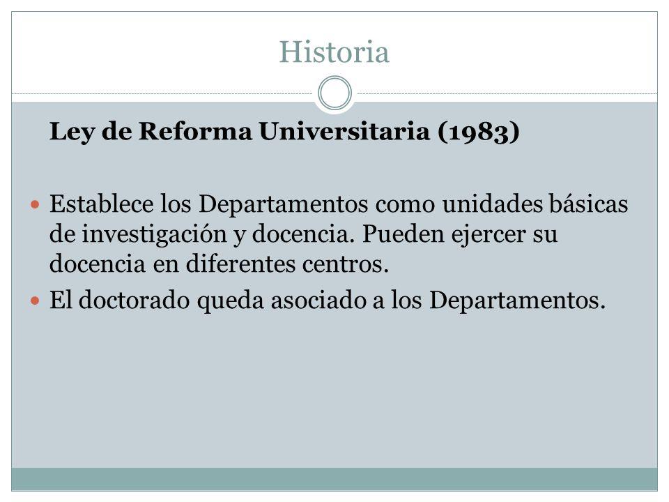 Historia Ley de Reforma Universitaria (1983)