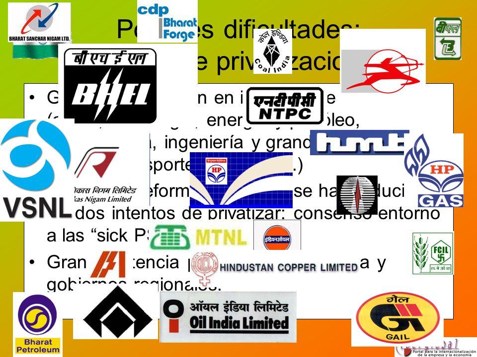 Posibles dificultades: política de privatizaciones