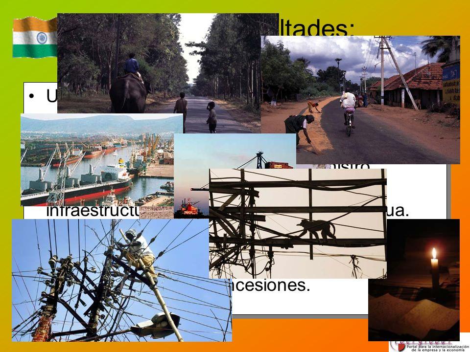 Posibles dificultades: infraestructuras