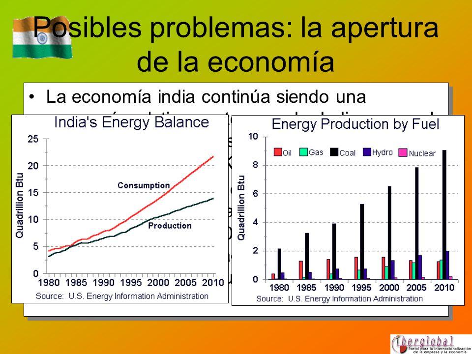 Posibles problemas: la apertura de la economía