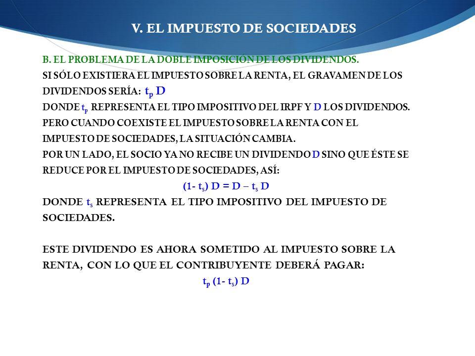 V. EL IMPUESTO DE SOCIEDADES