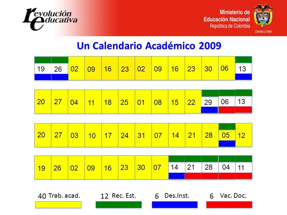 Un Calendario Académico 2009