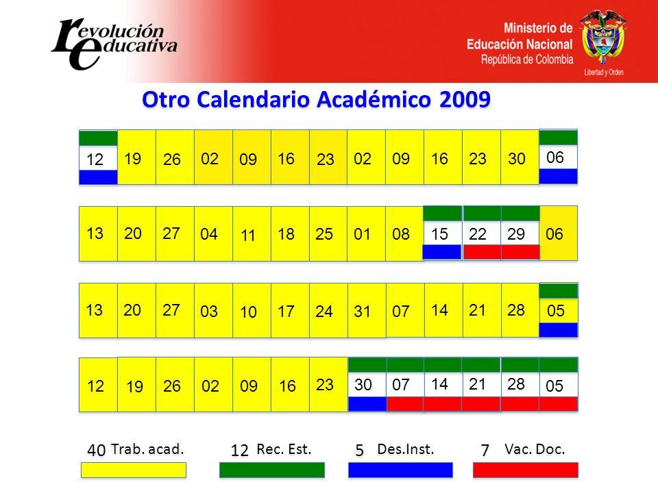 Otro Calendario Académico 2009