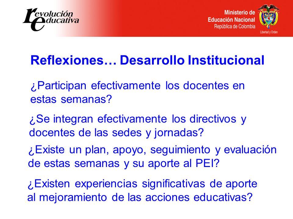 Reflexiones… Desarrollo Institucional