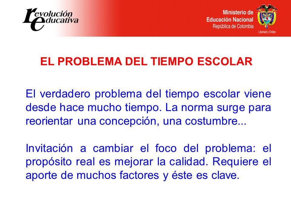 EL PROBLEMA DEL TIEMPO ESCOLAR
