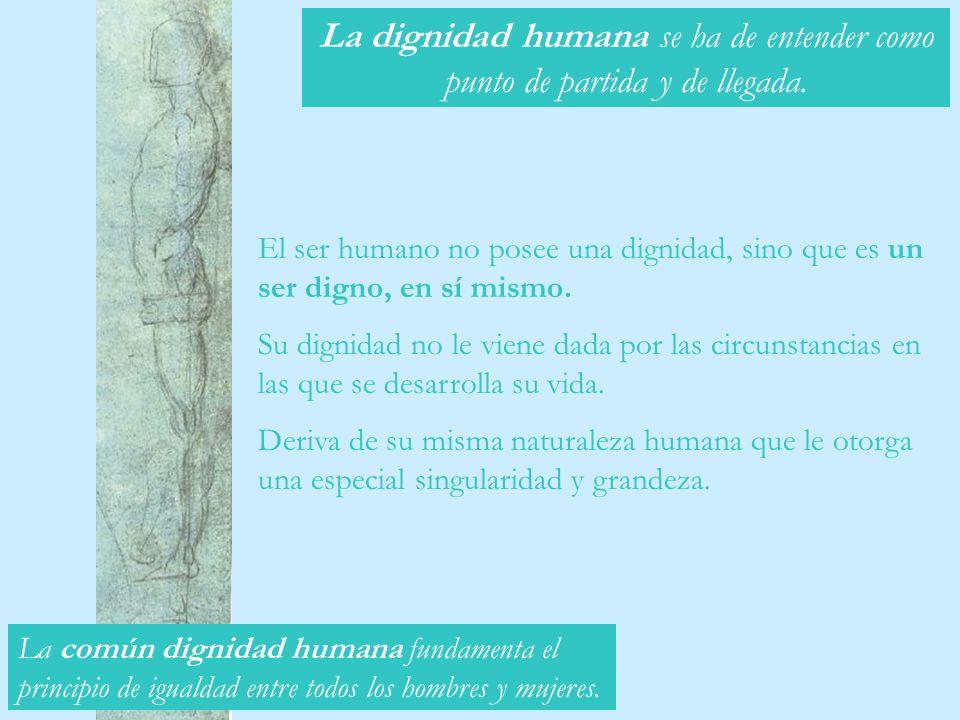 La dignidad humana se ha de entender como punto de partida y de llegada.