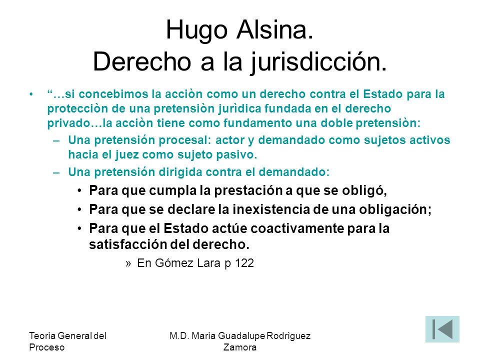 Hugo Alsina. Derecho a la jurisdicción.